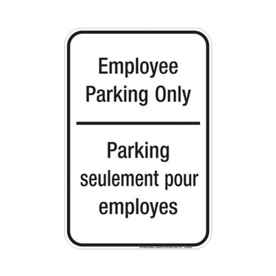 Employee Parking Only (Bilingual) Parking Lot Sign