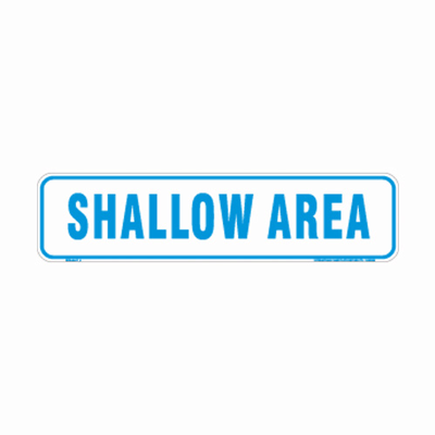 Shallow Area Pool By-Law Sign