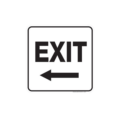 Directional Exit Sign Parking Lot Sign