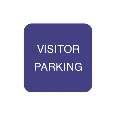 Visitor Parking W/ Arrow Parking Lot Sign