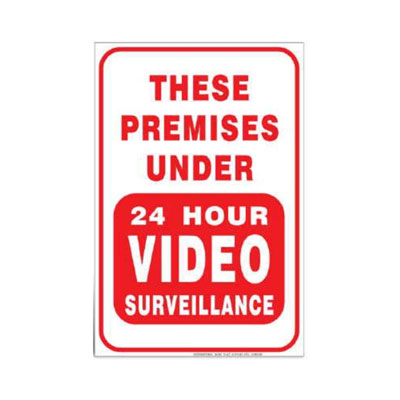 Premises Under 24 Hour Video Surveillance Parking Lot Sign