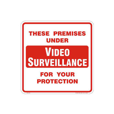 Premises Under Video Surveillance Parking Lot Sign