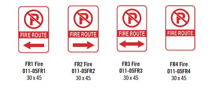 Fire Route Parking Signs
