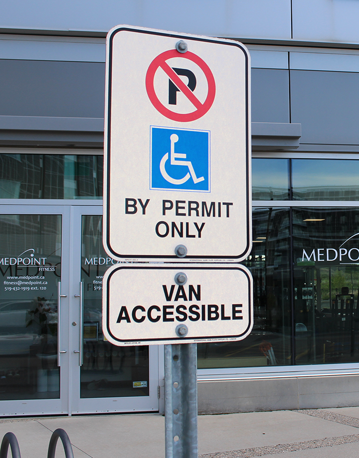 Off-Street Accessible Parking Sign