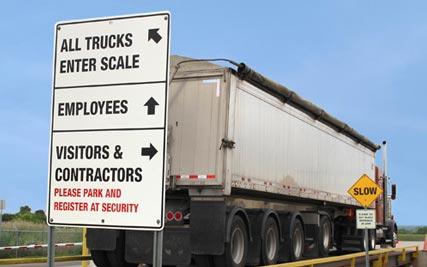 Aylmer Ethanol Plant Traffic Directional Signage