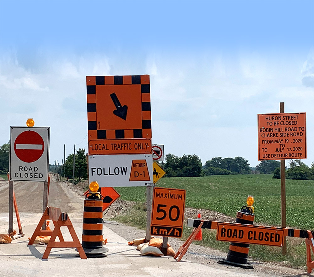 Traffic Construction Zone Signs