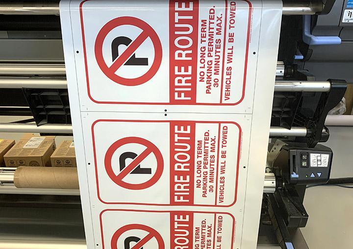 Digital Printed Parking Signs