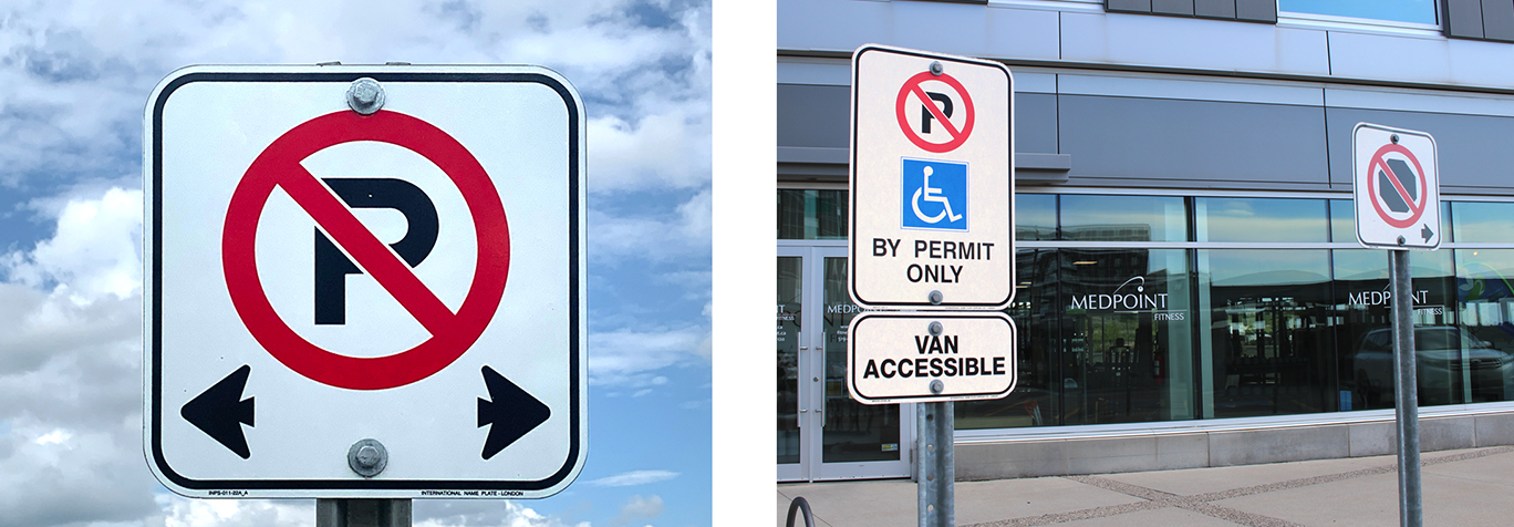 Business Parking Lot Signs