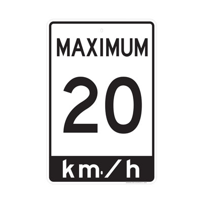 Speed Limit Sign Parking Lot Sign