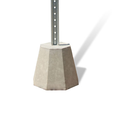 Cement Base for Post Signs