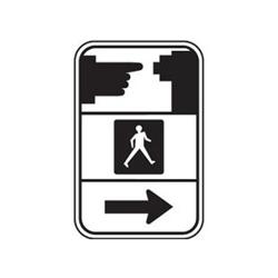 PEDESTRIAN PUSHBUTTON Symbol Traffic Sign