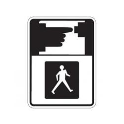 PEDESTRIAN MUST PUSH BUTTON TO RECEIVE WALK SIGNAL Symbol Traffic Sign