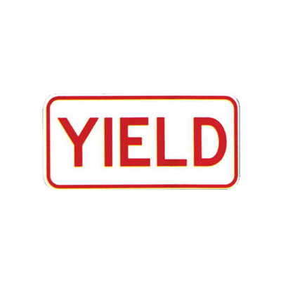 YIELD Tab Sign Traffic Sign