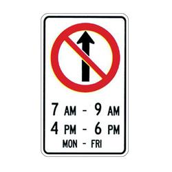NO STRAIGHT THROUGH Traffic Sign