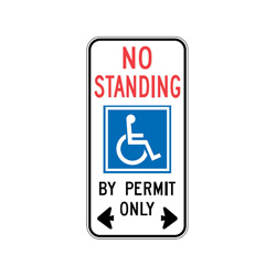 DISABLED STANDING EXEMPTION Traffic Sign