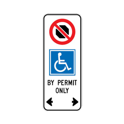DISABLED STOPPING EXEMPTION Traffic Sign