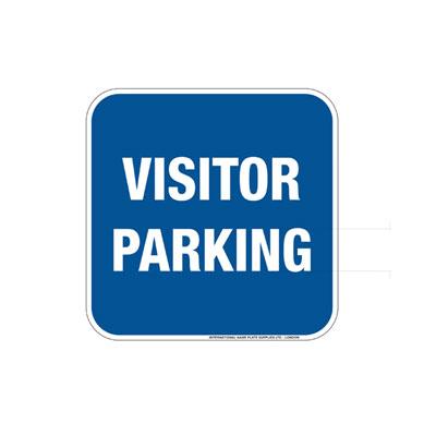 Visitor Parking (Blue Background) Parking Lot Sign