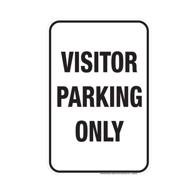 Visitor Parking Only Parking Lot Sign