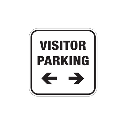 Visitor Parking W/ Dual Arrows (Small) Parking Lot Sign