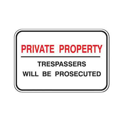 Private Property Sign - Prosecuted Parking Sign