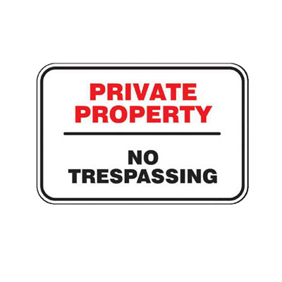 Private Property Sign Parking Lot Sign