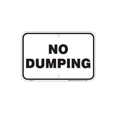 No Dumping Parking Lot Sign