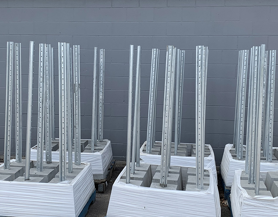 U-Flange Posts with Cement Base